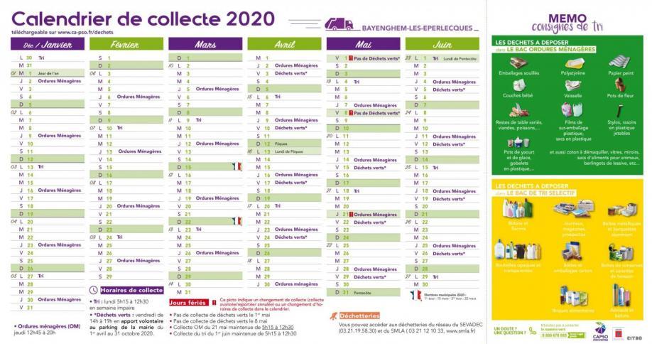 Bayenghem calendrier collecte 1