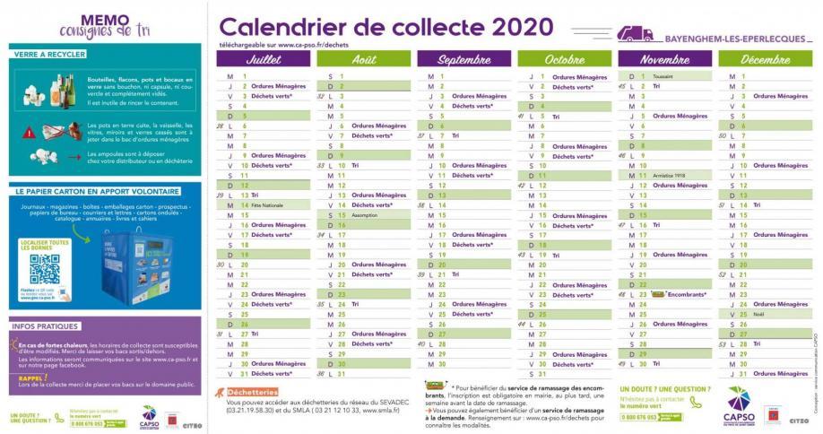Bayenghem calendrier collecte 2