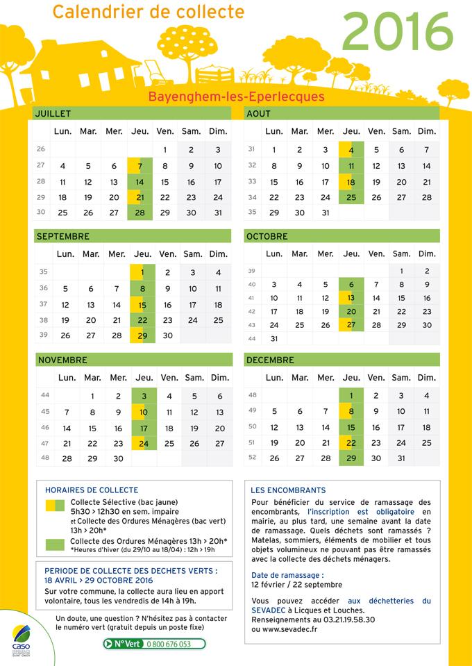 Calendrier de collecte 2016 bayenghem2