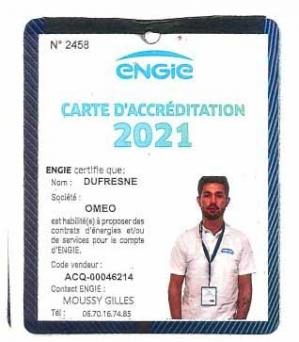 Carte accreditation dufresne