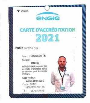 Carte accreditation hanscotte