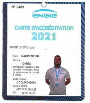 Carte accreditation