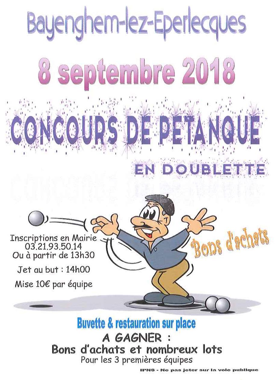 Concours petanque