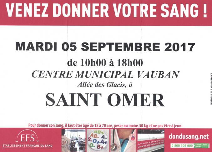 Don du sang 5 septembre