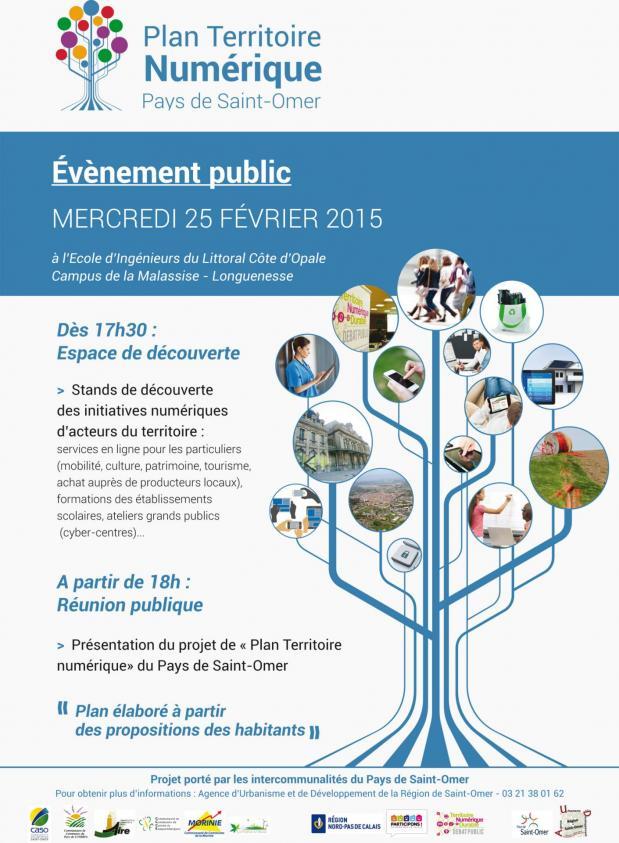 Flyer evenement public numerique pays st omer 25 02 2015