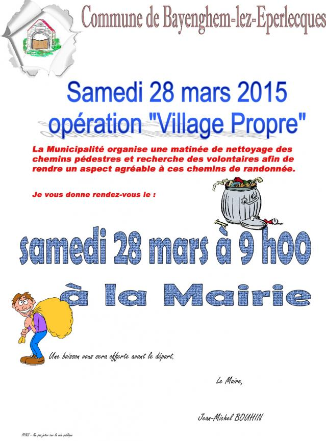 Operation proprete village