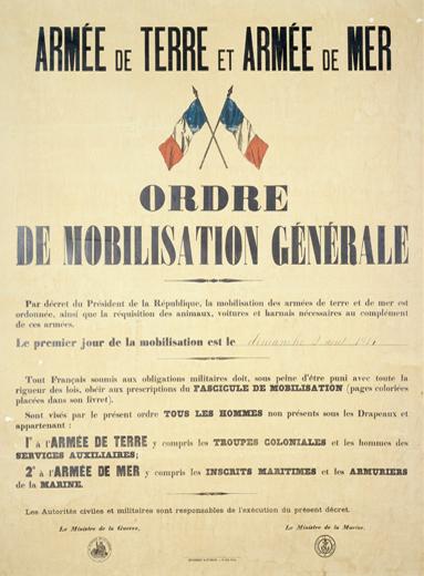 Ordre de mobilisation 1914