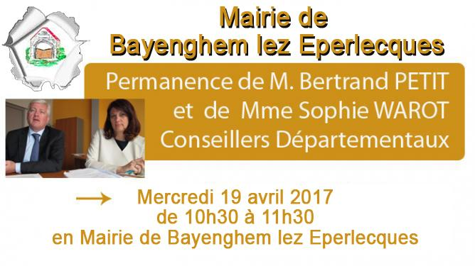 Permanences conseillers departementaux bayenghem